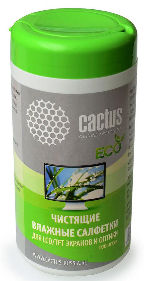 Чистящие салфетки Cactus CS-T1001E