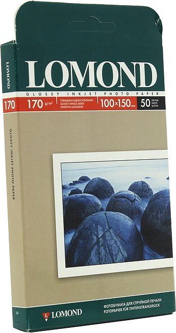 "Бумага A6 Lomond Односторонняя Глянцевая 170г 50 листов, 170 г/м?, A6 (4""x6"", 10x15 см) 0102150"