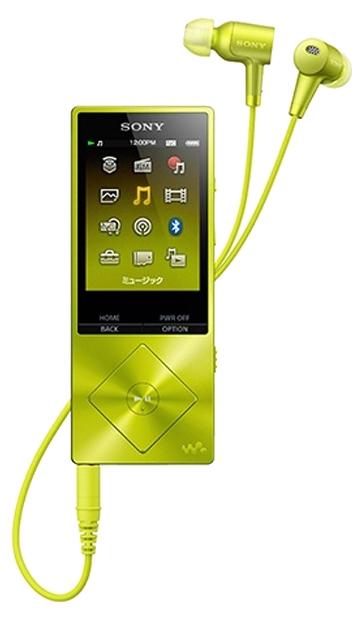 Sony Walkman NW-A25HN Hi-Res 16 ГБ, lime - (Экран - LCD цветной, диагональ 2.2 дюйм. (240x320); 16 Гб; один слот microSD; USB 2.0)