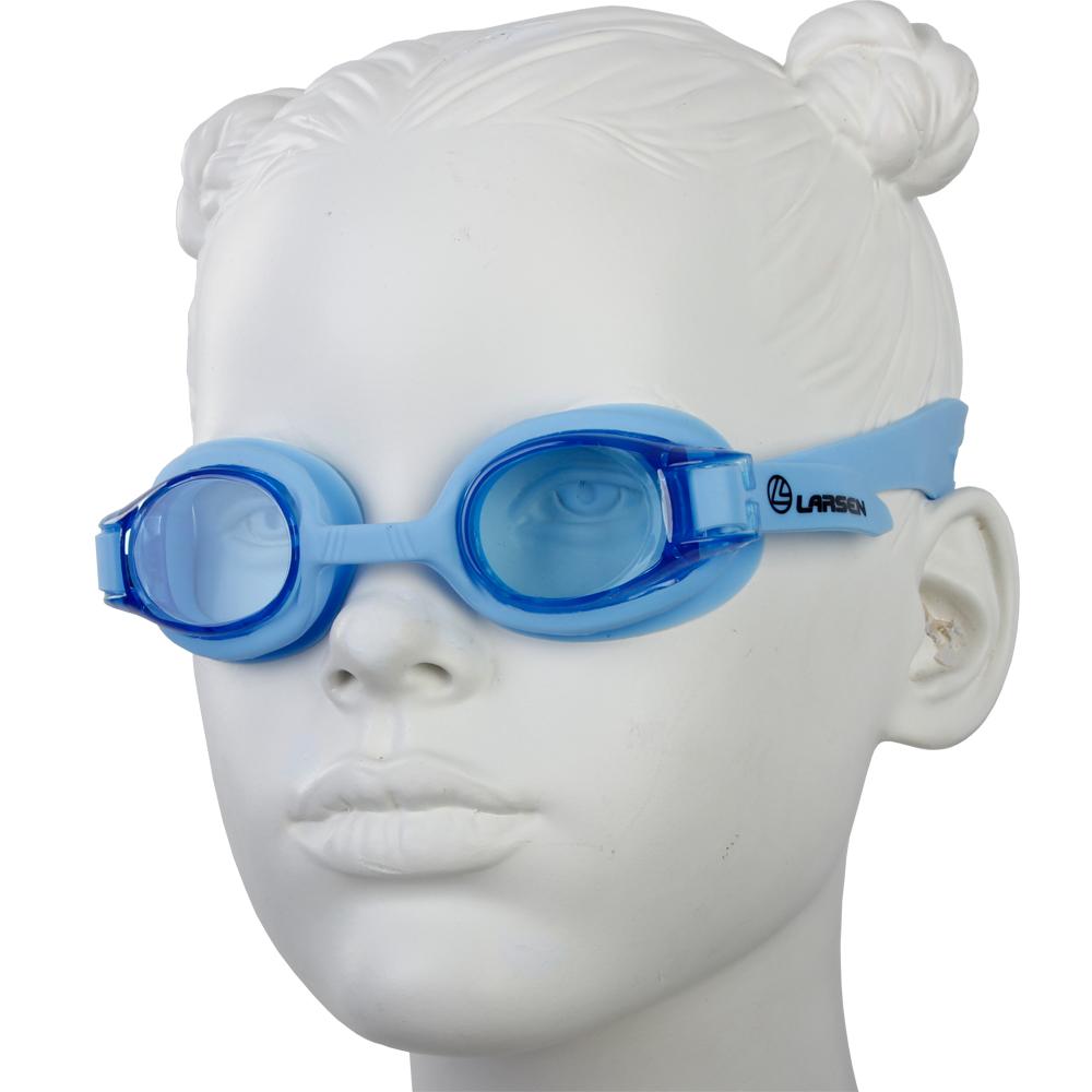 Очки плавательные Larsen DS204 синий (силикон+поликарбонат)