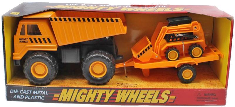 Машинка Soma строительная техника карьерный грузовик + минипогрузчик Бобкэт