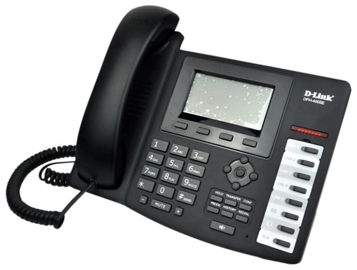 D-Link DPH-400S/E/F3 - (SIP: есть, подключение к нескольким серверам, Hands Free: есть, LCD-дисплей: монохромный, интерфейсы: WAN, LAN)