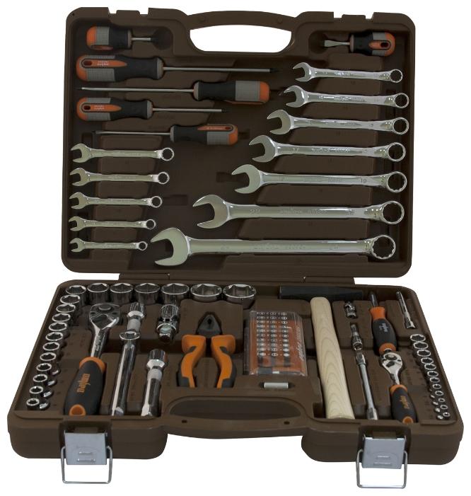 OMBRA OMT93S, 93 предмета - Универсальный; предметов 93 шт • Гаечные ключи: 8-24 мм • Головки: 4-32 мм. Трещётка есть. Вороток есть