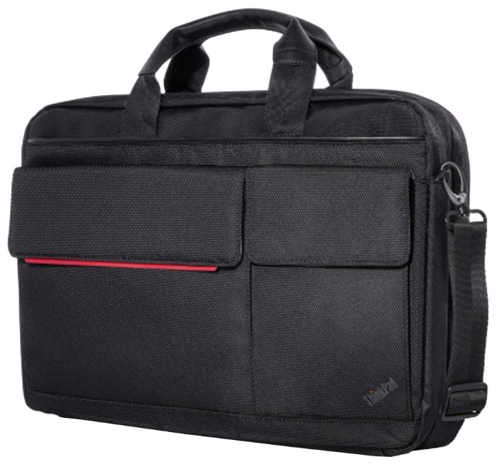 """Lenovo Professional Topload Case 15.6 - сумка; под диагональ экрана 15.6""""; синтетический. Цвет черный. • Отделения:, внешн. есть, органайзер"""