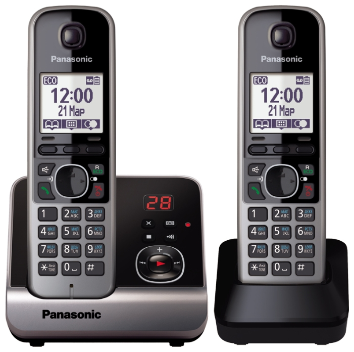 Радиотелефон DECT Panasonic KX-TG6722RUB Black