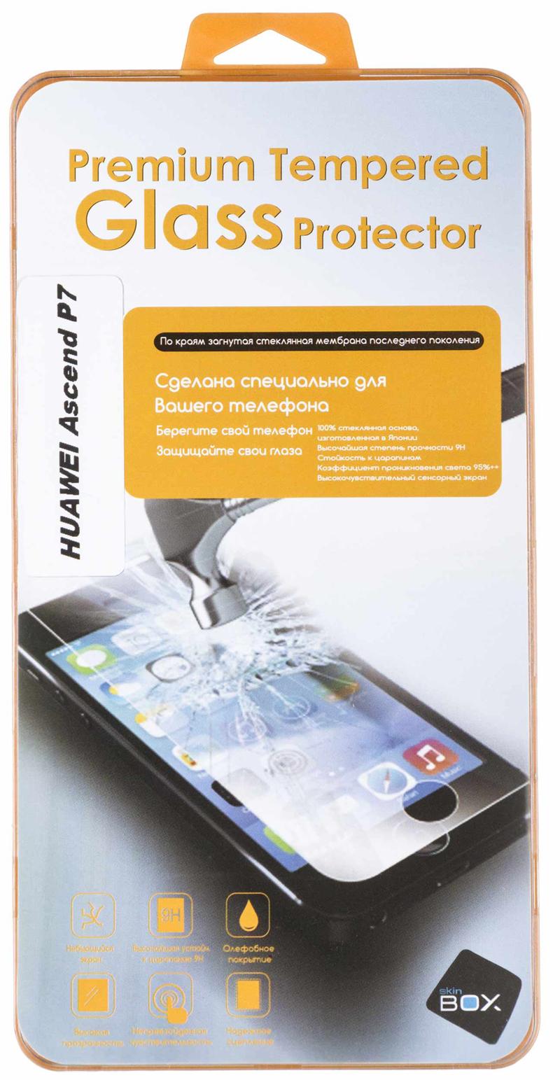 Стекло защитное SkinBox для Huawei Ascend P7 Глянцевое