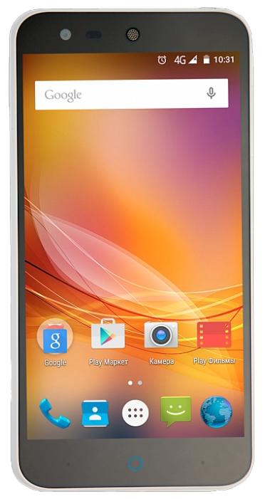 ZTE Blade X5 white - (; GSM 900/1800/1900, 3G, 4G LTE; SIM-карт 2 (Micro SIM); 1300 МГц; RAM 1 Гб; ROM 8 Гб; ; 13 млн пикс., светодиодная вспышка; есть, 8 млн пикс.; датчики - освещенности, приближения)