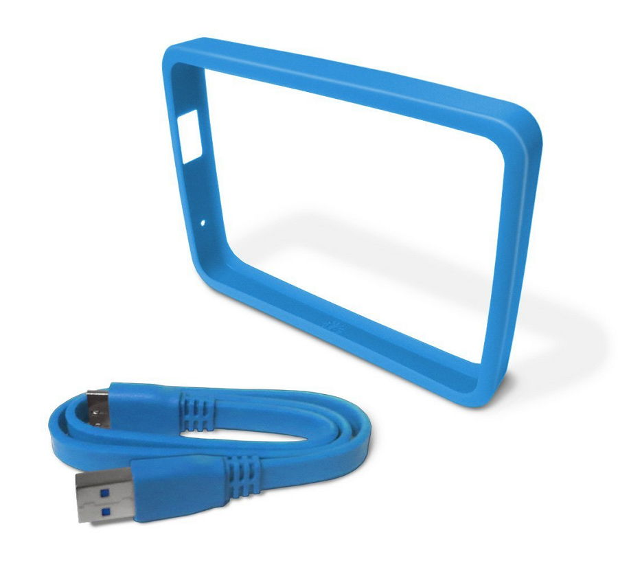 Комплект Western Digital WDBZBY0000NBL-EASN (для WD My Passport Ultra 1 Тб), Light blue