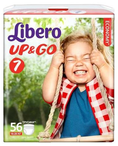 Подгузники-трусики Libero Up&Go Giga Pack (16-26 кг) 56 шт.