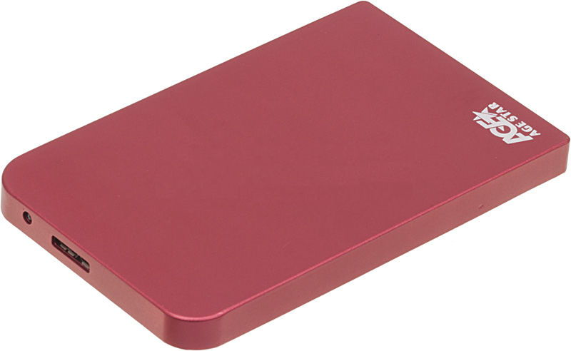Корпус для жесткого диска AgeStar 3UB2O1, Red 3UB201 red
