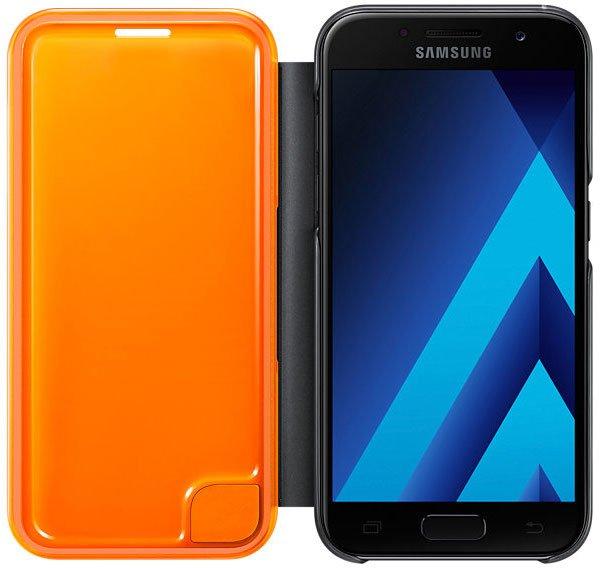 Чехол Samsung для Samsung Galaxy A3 (2017) Neon Flip Cover, black