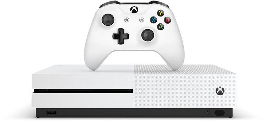 Игровая приставка Microsoft Xbox One S с 1 ТБ памяти, white