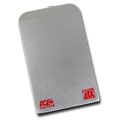 Корпус для жесткого диска AgeStar SUB2O1, miniUSB 2.0, 2.5'', Silver SUB201 silver