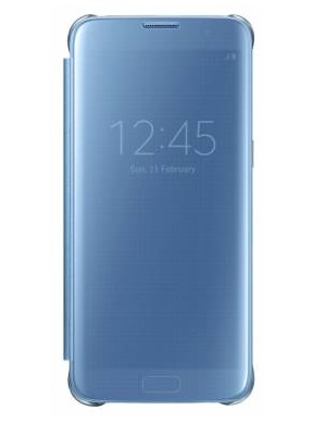 Samsung для Galaxy S7 edge Clear View Cover (EF-ZG935CLEGRU), blue
