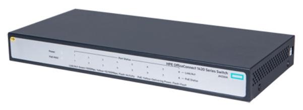 Коммутатор HP OfficeConnect 1420, 8G, PoE+ (64 Вт) JH330A