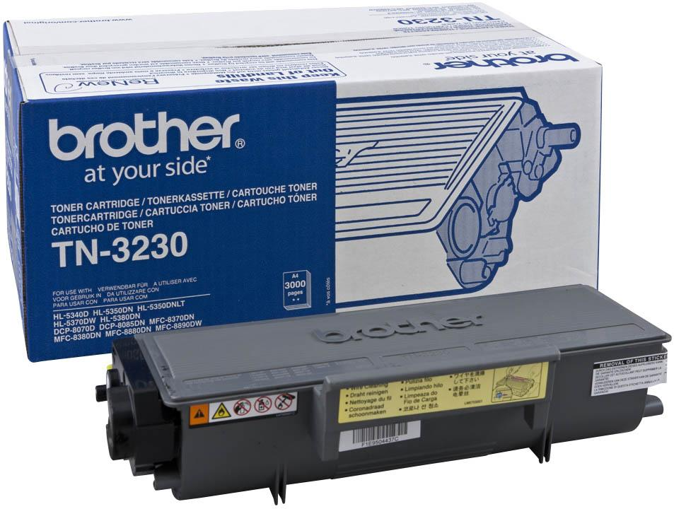 Brother TN-3230 - чёрный; на 3000 страниц • Brother HL-5340D, HL-5350DN, HL-5350DNLT, HL-5370DW, HL-5380DN, DCP-8070D, DCP-8085DN,