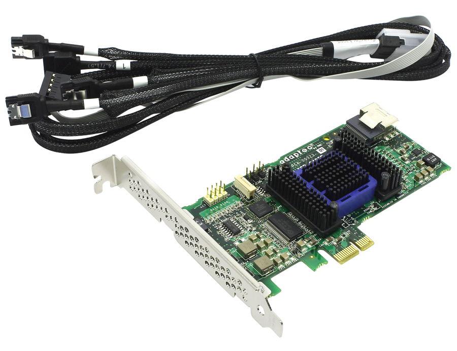 Adaptec ASR-6405E Kit (SAS/SATA) - SAS / SATA RAID-контроллер (RAID 0, 1, 10, 1E, Hybrid RAID, JBOD); PCI-Express 1x rev.2.0 (обратная