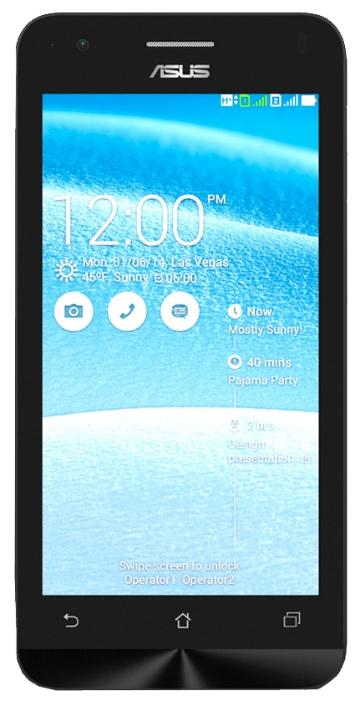 ASUS ZenFone C (ZC451TG), Black - (Android 5.1; GSM 900/1800/1900, 3G; SIM-карт 2 (Micro SIM); MediaTek MT6580, 1300 МГц; RAM 1 Гб; ROM 8 Гб; 1600 мА?ч; 5 млн пикс., светодиодная вспышка; есть, 0.3 млн пикс.; датчики - освещенности, приближения)