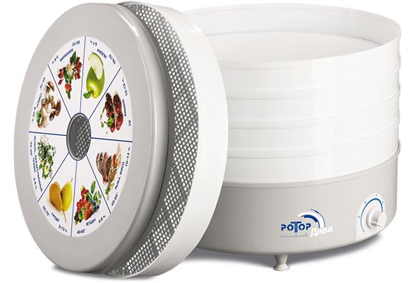 Сушилка для овощей, фруктов, грибов Ротор Дива СШ-07-06 (вентилятор, 5 секций)