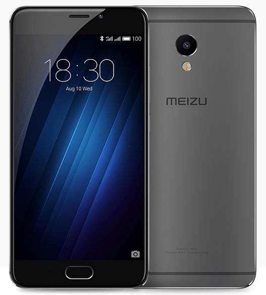 Meizu M3E 3/32GB Gray/Black - (; GSM 900/1800/1900, 3G, 4G LTE, LTE-A Cat. 6, VoLTE; SIM-карт 2 (nano SIM); MediaTek Helio P10 (MT6755); RAM 3 Гб; ROM 32 Гб; 3100 мАч; 13 млн пикс., светодиодная вспышка; есть, 5 млн пикс.; датчики - компас, считывание отпечатка пальца)