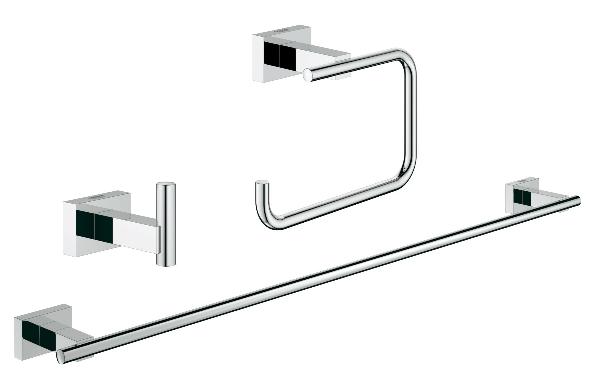 Grohe 40777001 Essentials Cube (3 предмета), хром (40777001)