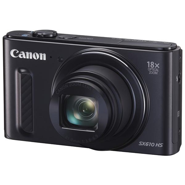 Canon PowerShot SX610HS Black - (20.2 млн, оптический zoom: 18x, 1920x1080, 2.5 кадр./сек, 922000 точек, 3 дюйма)