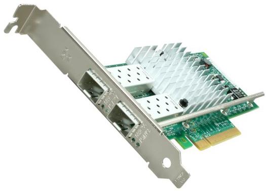 Сетевая карта Intel X520-DA2 SFP+ (E10G42BTDABLK) - PCI-E (2.0) x8, 10/100/1000/10000 Мбит/с