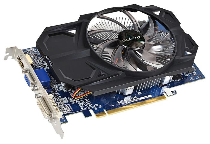 GIGABYTE Radeon R7 250 (2Gb GDDR3 128bit, D-Sub DVI HDMI) - AMD Radeon R7 250, 28 нм, 1100 МГц, 2048 Мб GDDR3@1800 МГц 128 бит, TDP