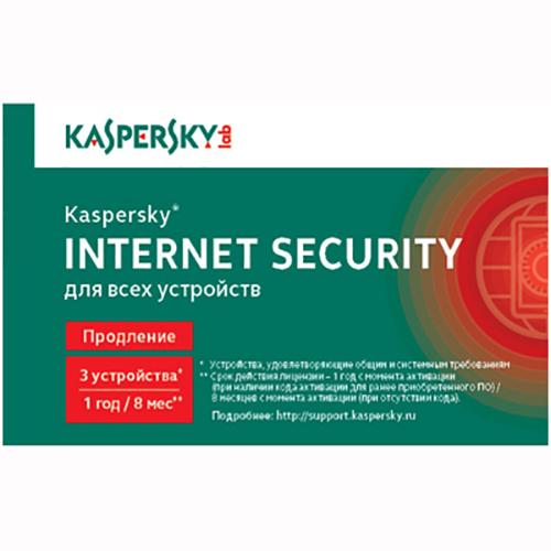 Антивирус Kaspersky Internet Security 3-Device Продление KL1941ROCFR