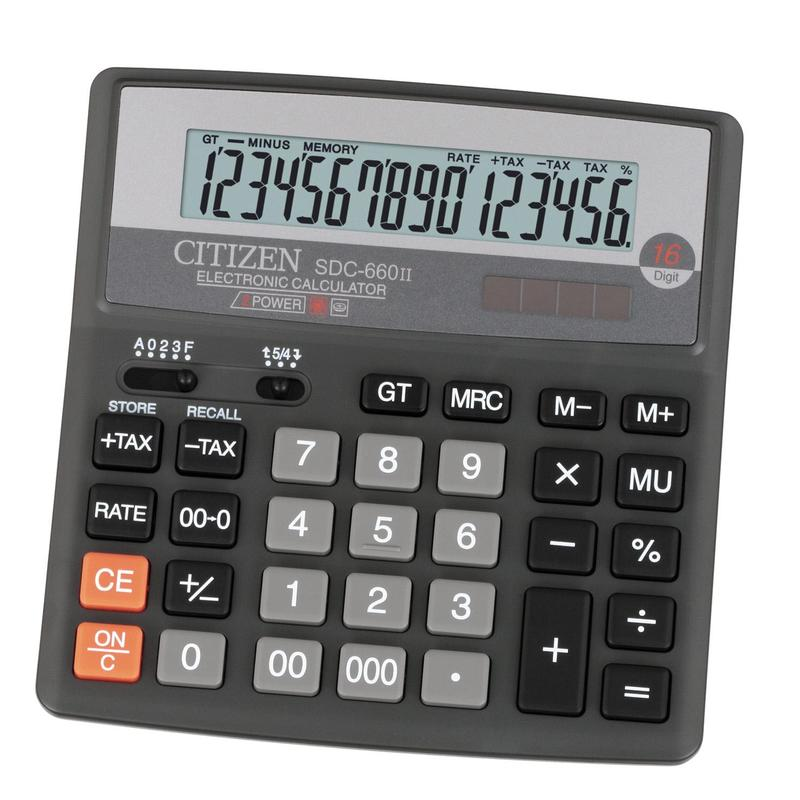 Калькулятор Citizen SDC-660II, черный