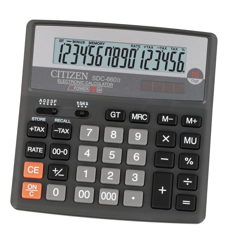 Калькулятор Citizen SDC-660II, черный