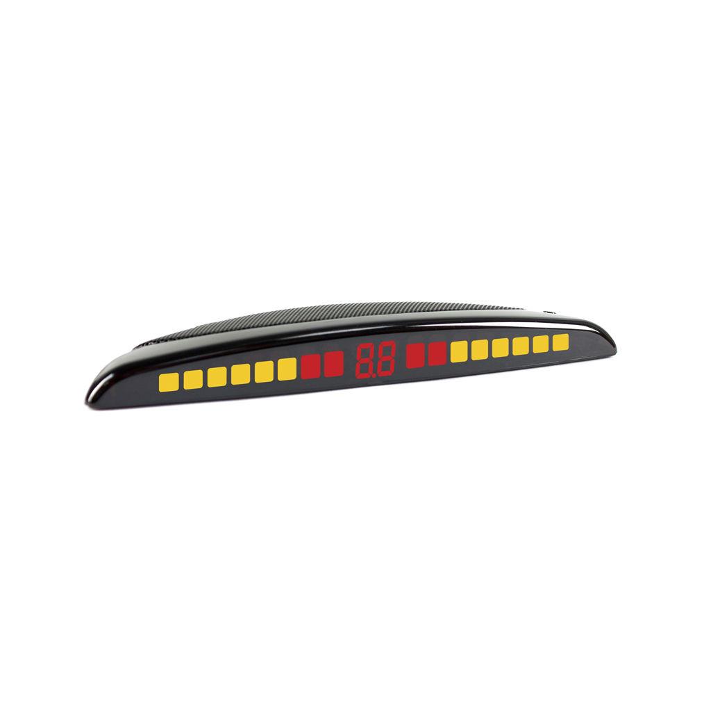 Parkmaster 35-4-A silver - Экран светодиодный, сегментный; точность 10 см; 4 датчика • Расстояние: 1.5 м … 0.3 м PARK_MASTER_35-4-A_SL