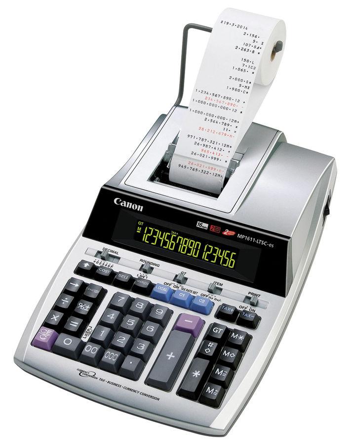 Калькулятор Canon MP1611-LTSC-ES 16-разрядный Серебристый