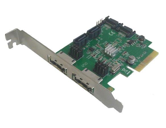 Контроллер Speed Dragon EST11B (4x SATA-III, 2x eSATA, RAID0-10 + JBOD) FG-EST11B-1-BU01
