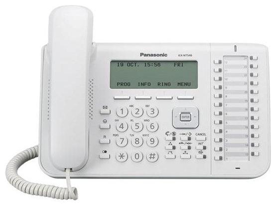 VoIP-телефон Panasonic KX-NT546RU white, WAN, LAN, есть определитель номера