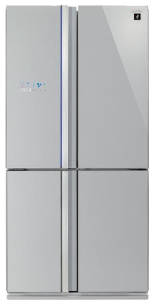 Sharp SJ-FS97VSL, многодверный - (холодильник с морозильником, 600 л (клим.класс SN, T), отдельно стоящий, компрессоров 1, камер 3, дверей 4. Хол-ник 393 л (разм. No Frost). Мор-ник 207 л, внизу (разм. No Frost). ШГВ 90x77x183 см. Дисплей есть. Управление электронное. Энергопотр-е класс A (487 кВтч/год). серебристый / пластик)