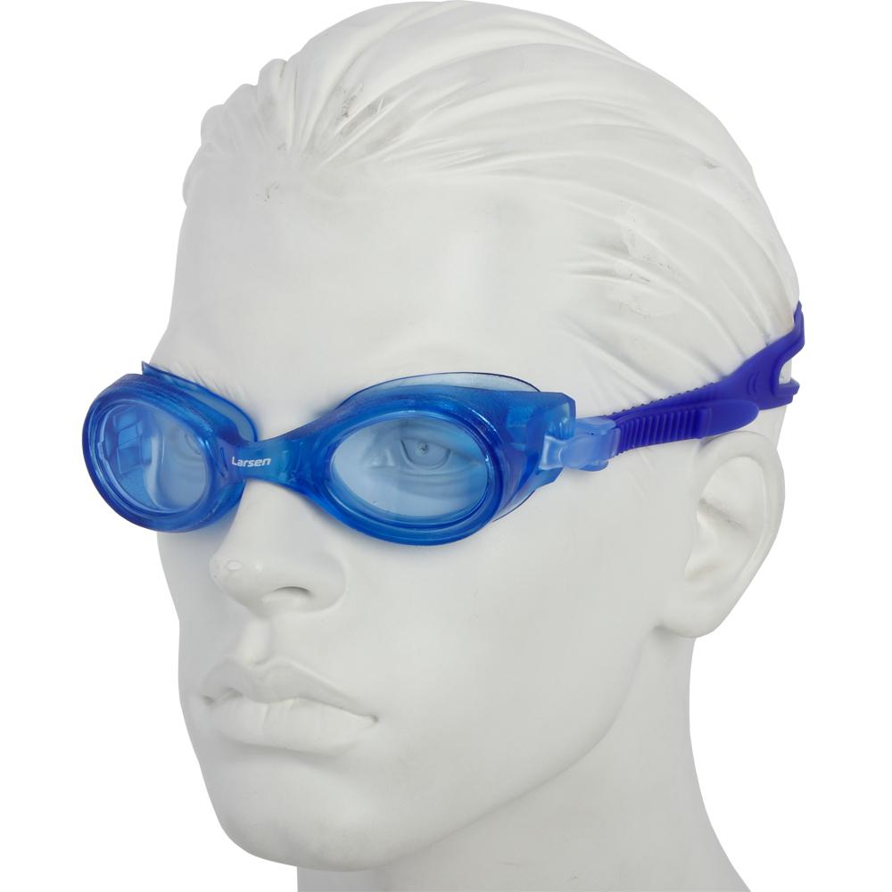 Очки плавательные Larsen S8 синий (пвх)