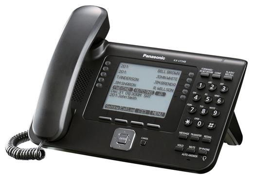 VoIP-телефон Panasonic KX-UT248RU-B, WAN, LAN, Gigabit LAN, есть определитель номера