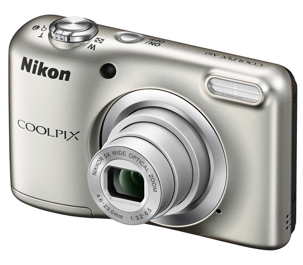 Фотоаппарат Nikon Coolpix A10, silver VNA980E1