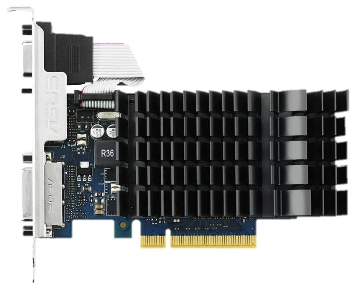 ASUS GeForce GT 730 2048Mb - NVIDIA GeForce GT 730, 28 нм, 902 МГц, 2048 Мб GDDR5@5010 МГц 64 бит, TDP 25 Вт • Разъёмы: DVI-D, поддержка