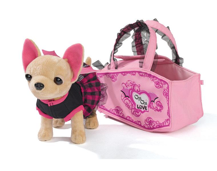 Мягкая игрушка Simba Плюшевая собачка Вампирчик, в платье с крылышками, в сумочке