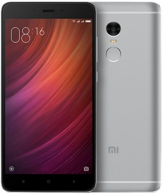 Xiaomi Redmi Note 4 64Gb Gray - (; GSM 900/1800/1900, 3G, 4G LTE, LTE-A Cat. 6; SIM-карт 2 (micro SIM+nano SIM); MediaTek Helio X20 (MT6797), 2100 МГц; RAM 3 Гб; ROM 64 Гб; 4100 мАч; 13 млн пикс., светодиодная вспышка; есть, 5 млн пикс.; датчики - освещенности, приближения, Холла, гироскоп, считывание отпечатка пальца)