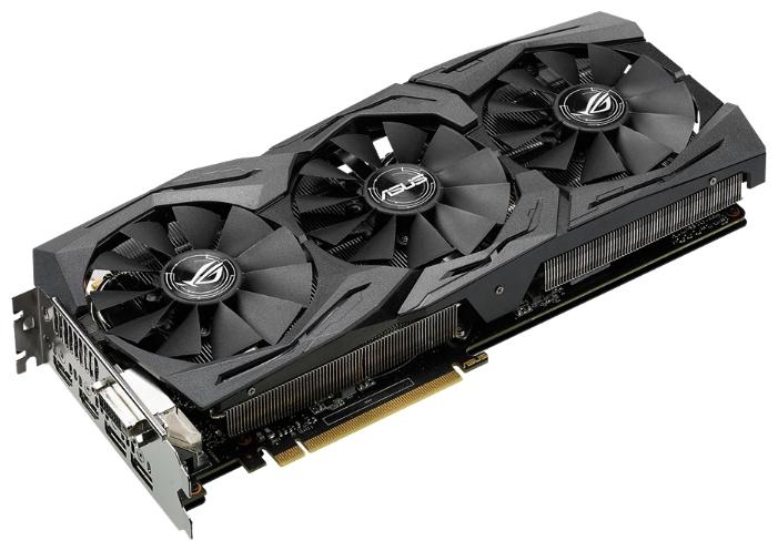 ���������� Asus GeForce GTX 1060 1620Mhz PCI-E 3.0 6144Mb 8208Mhz 192 bit DVI 2xHDMI HDCP STRIX-GTX1060-O6G-GAMING