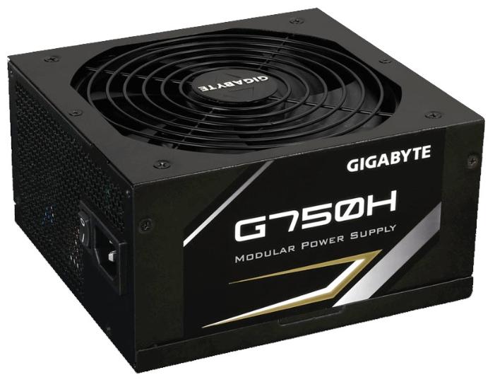 Gigabyte G750H 750W - 750 Вт, 1 вентилятор (140 мм), PFC активный, линия +12В(1) - 62 A • Molex: 3 / SATA: 7 / CPU 4+4pin: 1 / PCIe