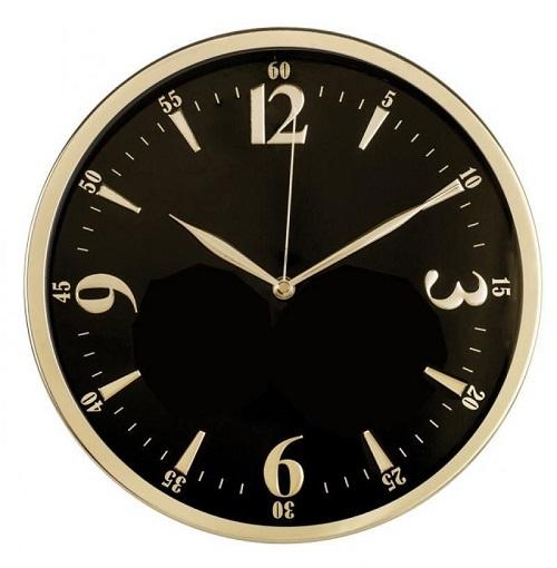 Часы настенные Бюрократ WallC-R25M, black WALLC-R25M/BLACK