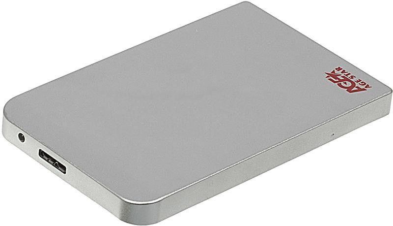 Корпус для жесткого диска AgeStar 3UB2O1, Silver 3UB201 silver
