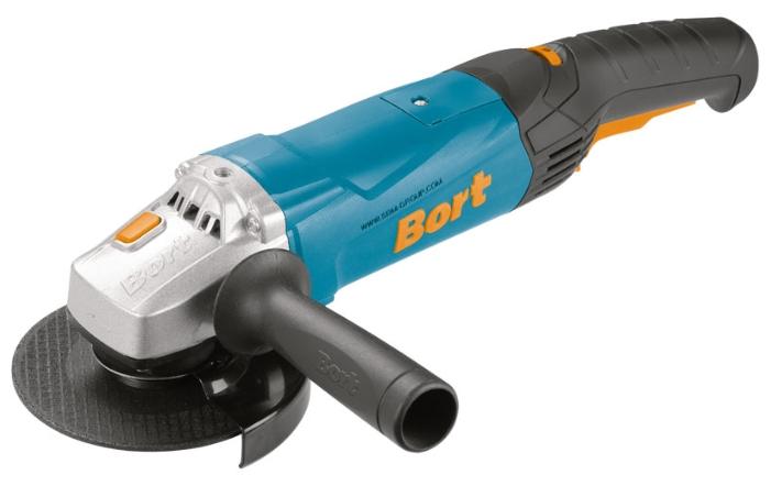 Bort BWS-1200U-SR - угловая; 1200 Вт; до 11000 об/мин; диам.диска до 125 мм; питание от сети