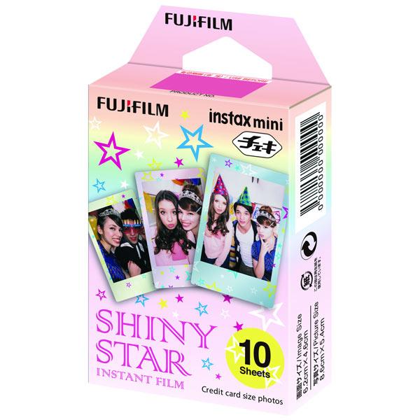 Fujifilm Instax Mini Shiny star WW1 10/PK - картридж на 10 снимков; для Instax Mini; подложка 86 x 54 мм; изображение 62 x 46 мм