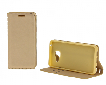 Чехол-книжка Book Case New для Samsung Galaxy A3 с визитницей golden