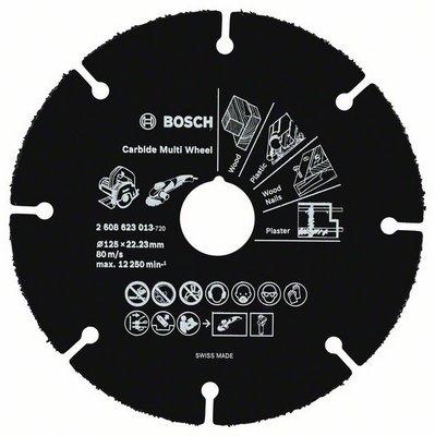 BOSCH по дереву - диск отрезной; D:125 мм; d • 22.23 мм; толщина • 1 мм; для резки дерева; 12250 об/мин об/мин 2608623013